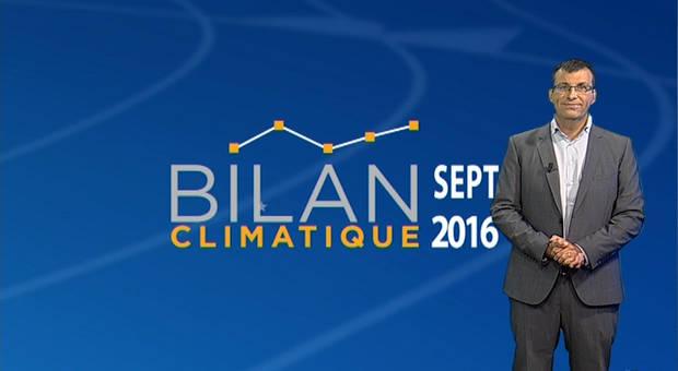 Vidéo Bilan climatique de septembre 2016