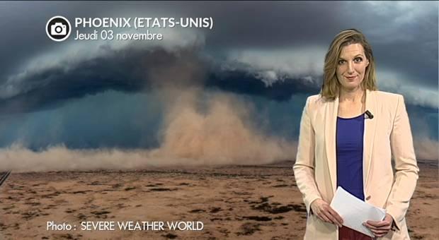 Vidéo Spectaculaire tempête de sable en Arizona