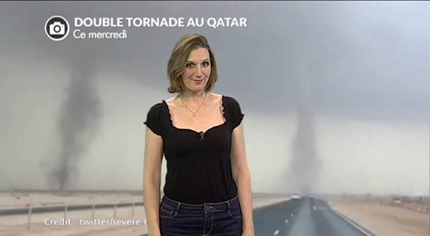 Vidéo Double tornade au Qatar