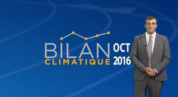 Vidéo Bilan climatique d'octobre 2016