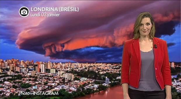 Vidéo Violents orages en Amérique du Sud