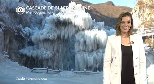 Vidéo Superbe cascade de glace en Chine
