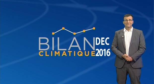 Vidéo Bilan climatique de décembre 2016