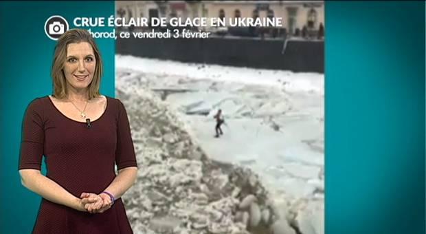 Vidéo Crues éclairs de glace en Europe de l'est