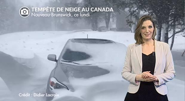 Vidéo Tempête de neige au Canada : un blizzard à 120 km/h !