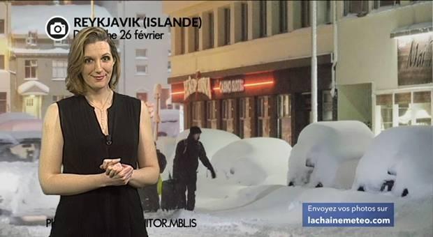 Vidéo Record de neige en Islande