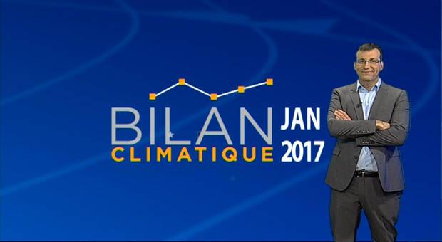 Vidéo Bilan climatique de janvier 2017