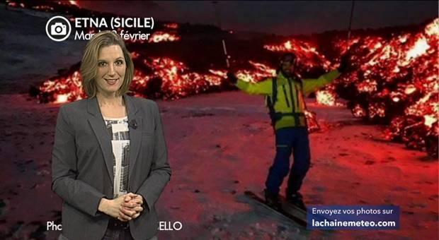 Vidéo Volcan Etna en éruption : ski, neige et lave !