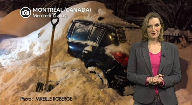 Vidéo Tempête de neige au Québec après les USA