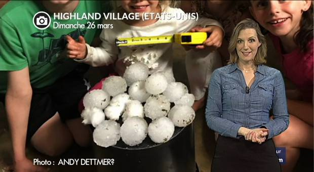 Vidéo Grêlons géants et tornades au Texas