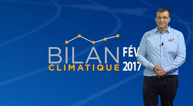 Vidéo Bilan climatique de février 2017