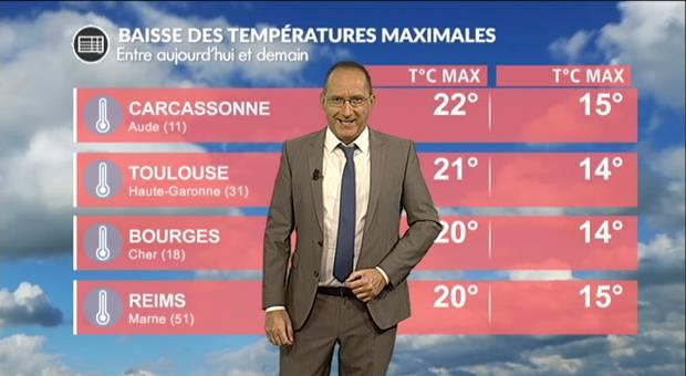Vidéo Incroyable chute des températures entre dimanche et lundi !!!