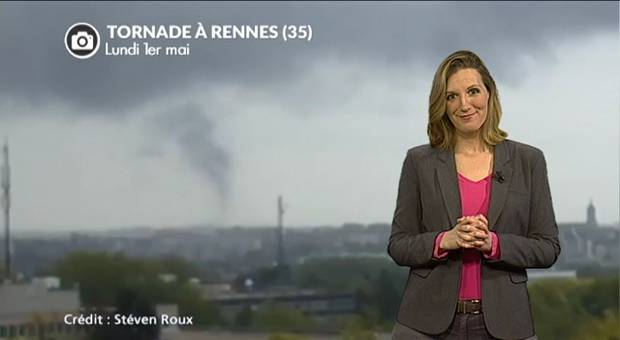 Vidéo Tornade à Rennes