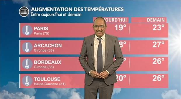 Vidéo Météo dimanche : forte progression des températures