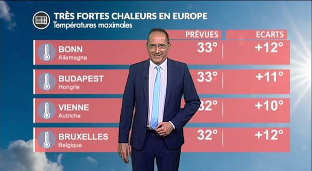 Vidéo Très fortes chaleurs en Europe