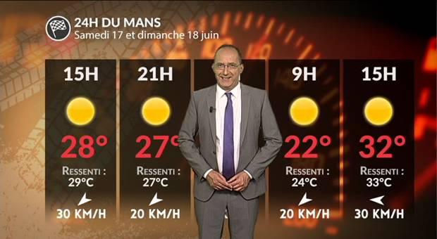 Vidéo Météo 24h du Mans : chaud devant !!!