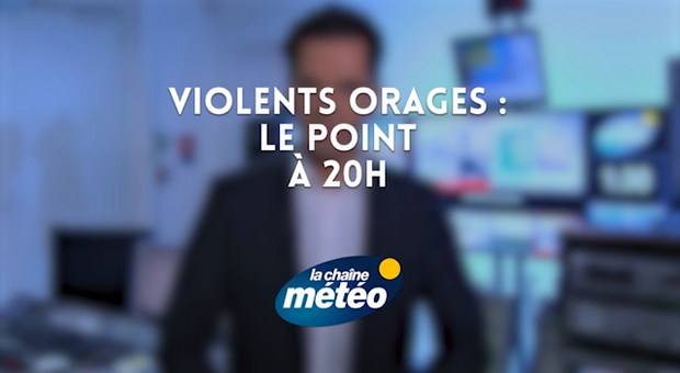 Vidéo Violents orages : le point à 20h