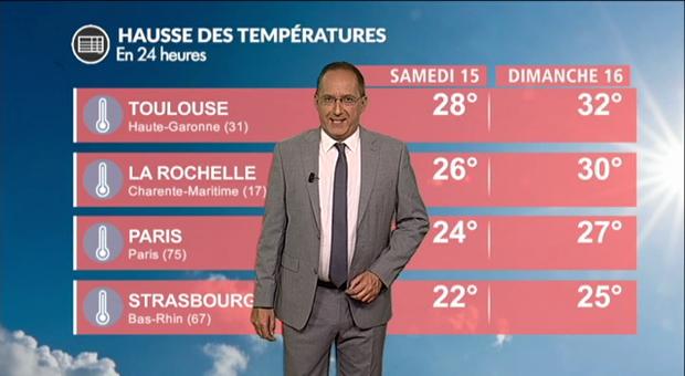 Vidéo Météo dimanche : hausse des températures !