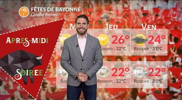 Vidéo Quel temps pour les fêtes de Bayonne?