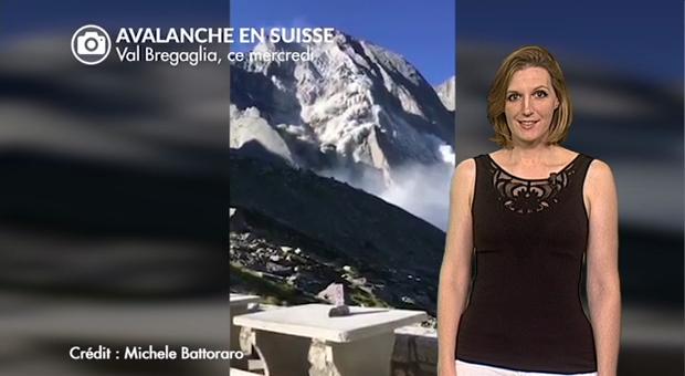 Vidéo Avalanche et coulée de roches filmées en Suisse