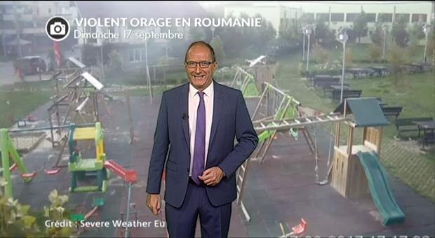 Vidéo Une cour d'école saccagée par un orage en Roumanie : des images étonnantes !