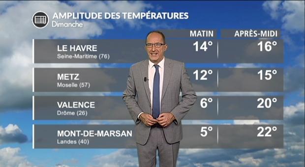 Vidéo Météo dimanche : des températures très contrastées !