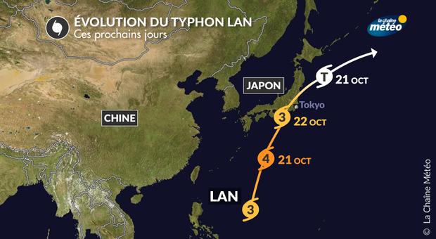Vidéo Le typhon Lan se dirige vers Tokyo