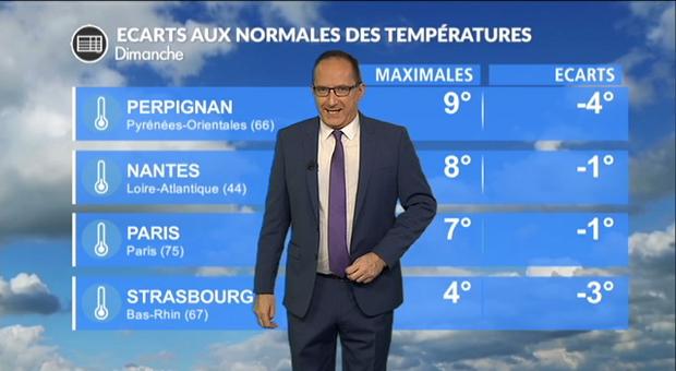 Vidéo Météo dimanche : des températures basses et de la grisaille