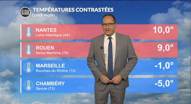 Vidéo Météo lundi : une perturbation active et des températures contrastées