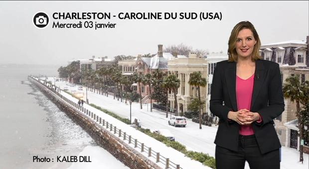 Vidéo Neige exceptionnelle en Floride et Caroline du Sud