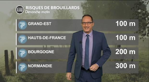 Vidéo Météo dimanche : des pluies au sud et des brouillards au nord