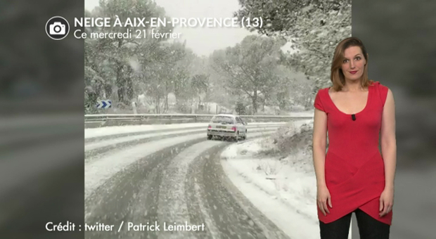Vidéo Neige au sud-est ce mercredi