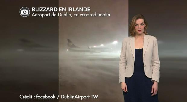 Vidéo Irlande et Angleterre : le pire blizzard depuis 1982