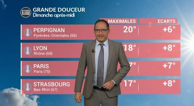 Vidéo Météo dimanche : temps agité et grande douceur !