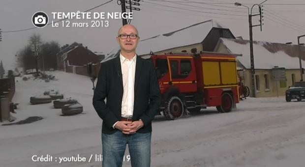 Vidéo Tempête de neige le 12 mars 2013 dans le nord de la France.