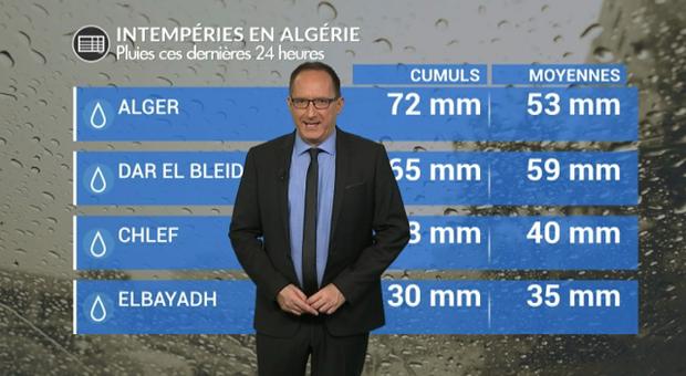 Vidéo Fortes pluies, inondations et neige en Algérie ce week end