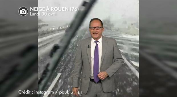 Vidéo Incroyables chutes de neige en Normandie ce lundi