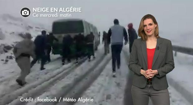 Vidéo Algérie et Maroc : neige tardive