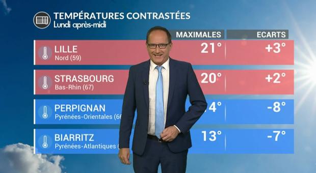Vidéo Météo de ce lundi : des températures contrastées