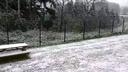 Ce matin � nouveau de la neige sur l'Alsace.